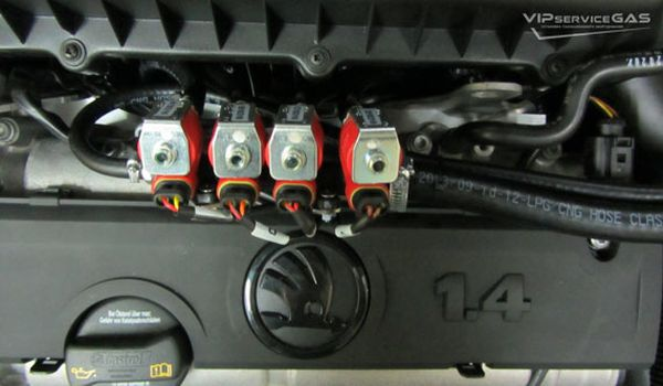 Газовая установка на Skoda Roomster 1.4